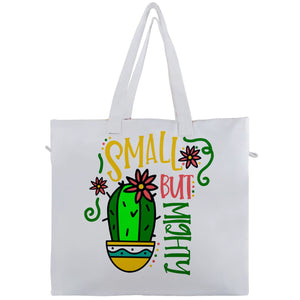 Small But Mighty Cactus Travel Tote