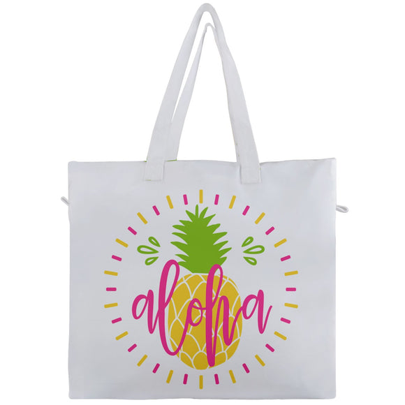Aloha Pineapple Beach Travel Tote