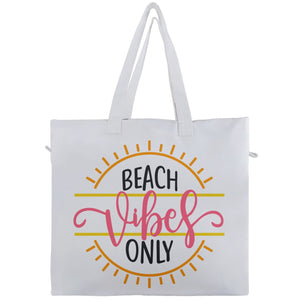 Beach Vibes Only Travel Tote