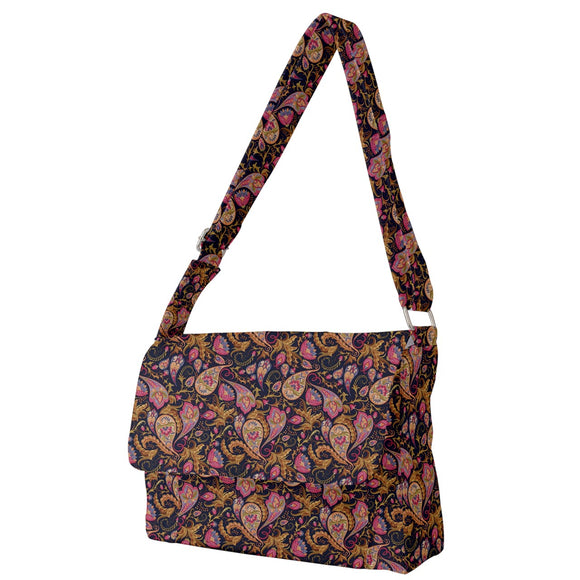 Paisley Pattern Messenger Bag