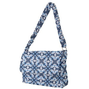 Blue Gray Pastel Pattern Messenger Bag