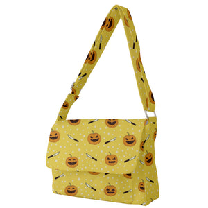 Jack O' Lanterns and Carving Knives Messenger Bag