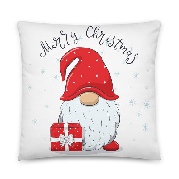Christmas Gnome Merry Christmas Throw Pillow Case + Optional Pillow