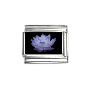 Blue Lotus Italian Charm (9mm)