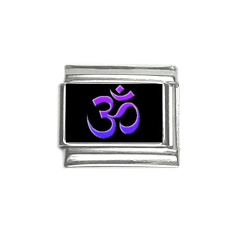 Om Purple Italian Charm (9mm)