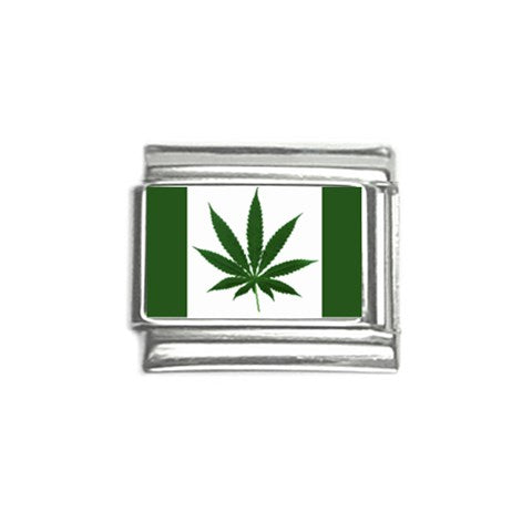 Pot Flag Italian Charm (9mm)