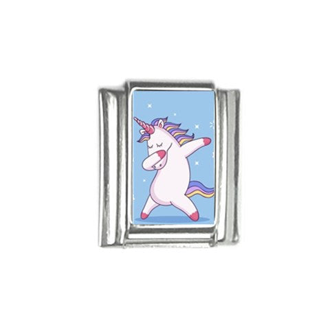Dabbing Unicorn Italian Charm (9mm)