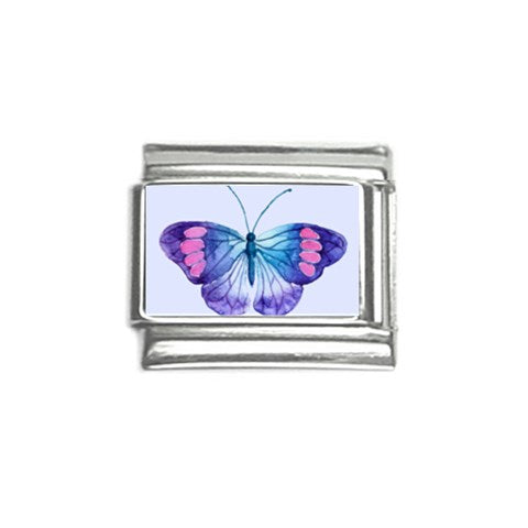 Watercolor Blue Butterfly Italian Charm (9mm)