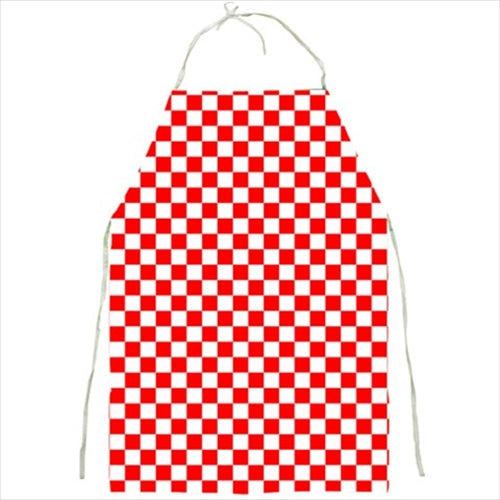 Red and White Checkered Barbecue/Kitchen Apron