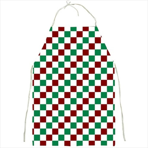 Red, Green, and White Checkered Barbecue/Kitchen Apron