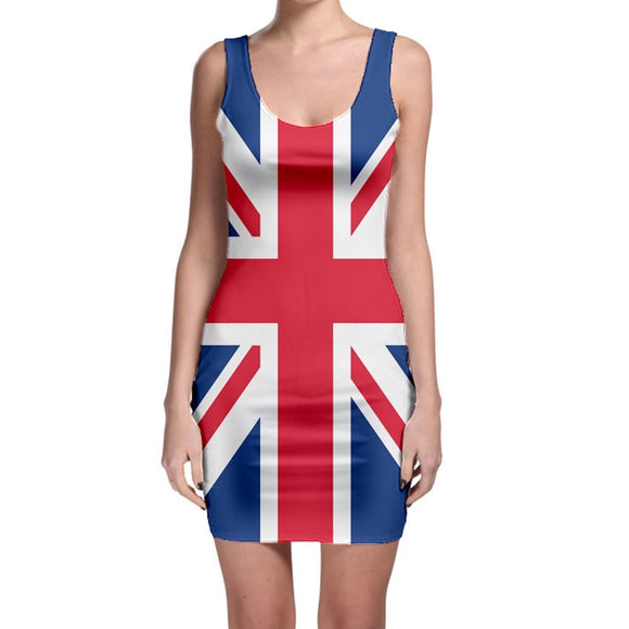 Union Jack Fitted Mini Dress