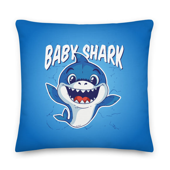 Baby Shark Throw Pillow Case + Optional Pillow
