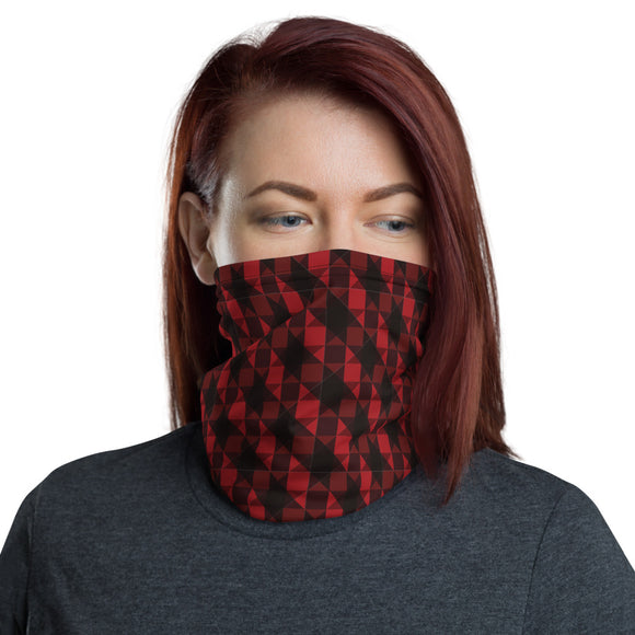 Red and Black Pattern Neck Gaiter