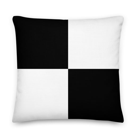 Black and White Checkered Throw Pillow Case + Optional Pillow