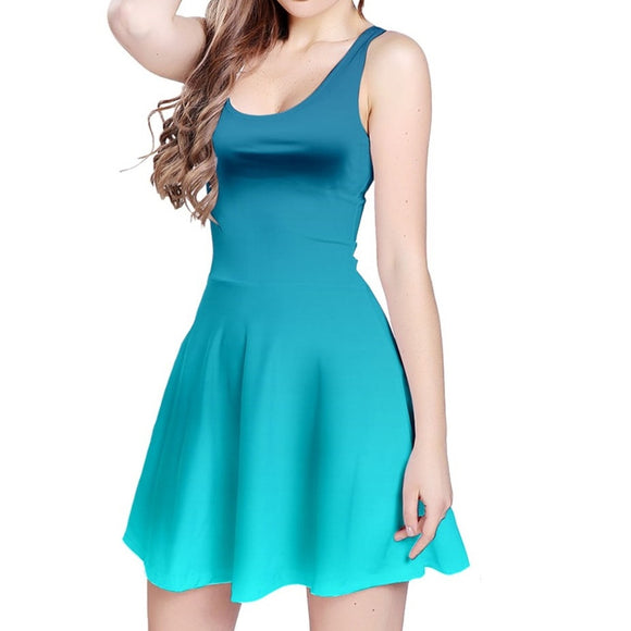 Blue Ombre Sleeveless Dress