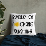 Bundle of F*cking Sunshine Throw Pillow Case + Optional Pillow