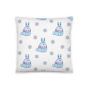 Rabbit Nordic Pattern Throw Pillow Case + Optional Pillow
