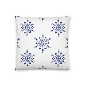 Snowflake Pattern Throw Pillow Case + Optional Pillow