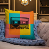 Cassette Tape Retro Pillow Case + Optional Pillow