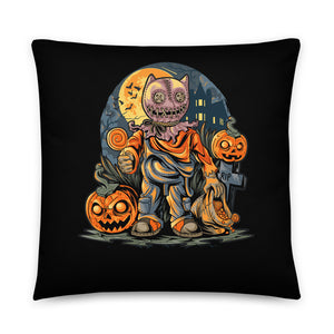Creepy Trick or Treat Halloween Throw Pillow Case + Optional Pillow