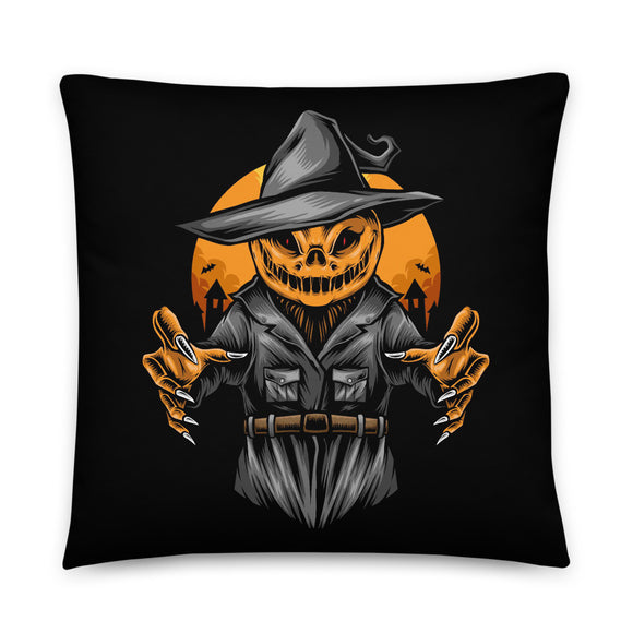 Creepy Jack Halloween Throw Pillow Case + Optional Pillow