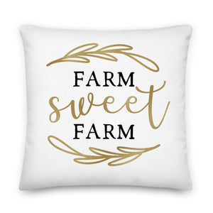 Farm Sweet Farm Throw Pillow Case + Optional Pillow