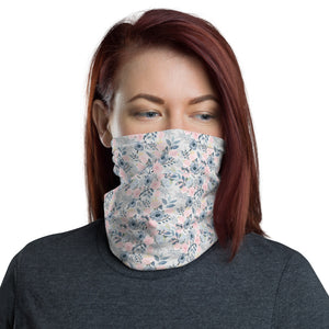 Pink and Blue Floral Neck Gaiter