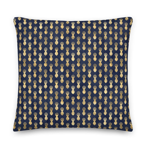Goddess Symbol Pattern Blue Throw Pillow Case + Optional Pillow