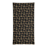 Gold Anchors Pattern Neck Gaiter
