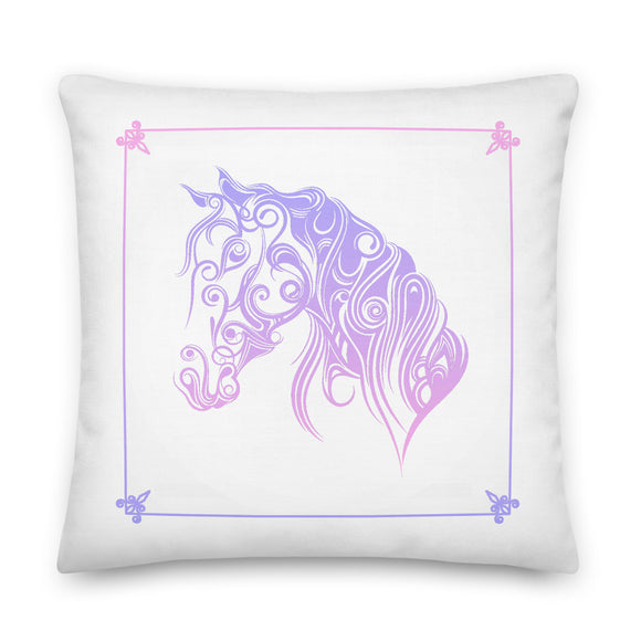 Ombre Horse Throw Pillow Case + Optional Pillow