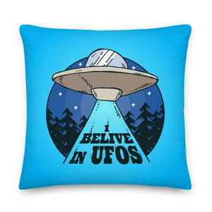 I Believe in UFOs Throw Pillow Case + Optional Pillow