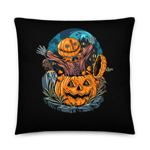 Jack in the Lantern Halloween Throw Pillow Case + Optional Pillow