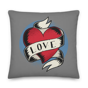 Love Heart Banner Throw Pillow Case + Optional Pillow