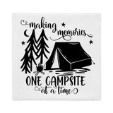Making Memories One Campsite at a Time Throw Pillow Case + Optional Pillow