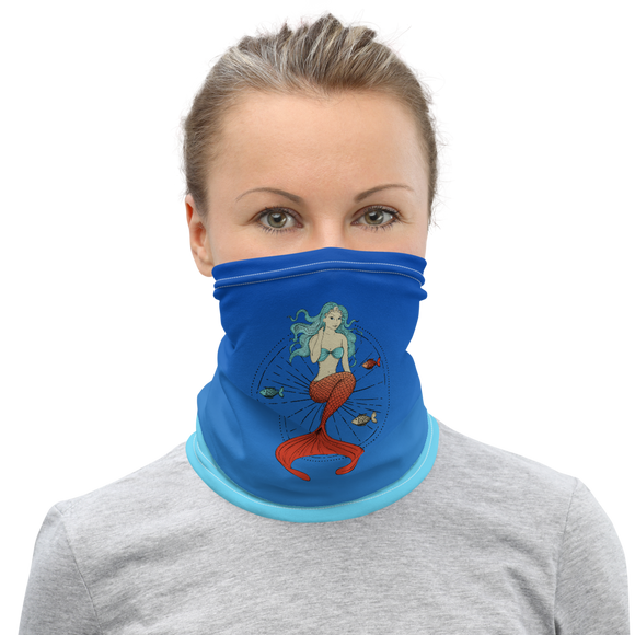 Blue Haired Mermaid Neck Gaiter