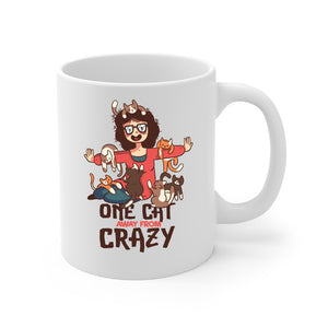 One Cat Away From Crazy Mug - Personalize for Free