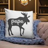 Papa Moose Throw Pillow Case + Optional Pillow