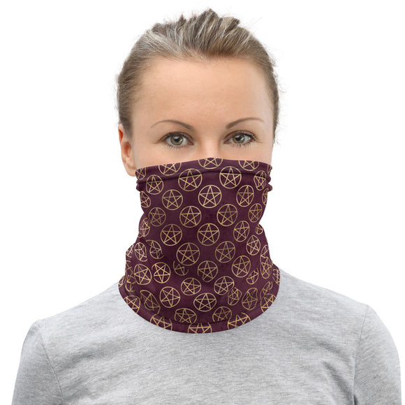 Pentacle Pattern Neck Gaiter