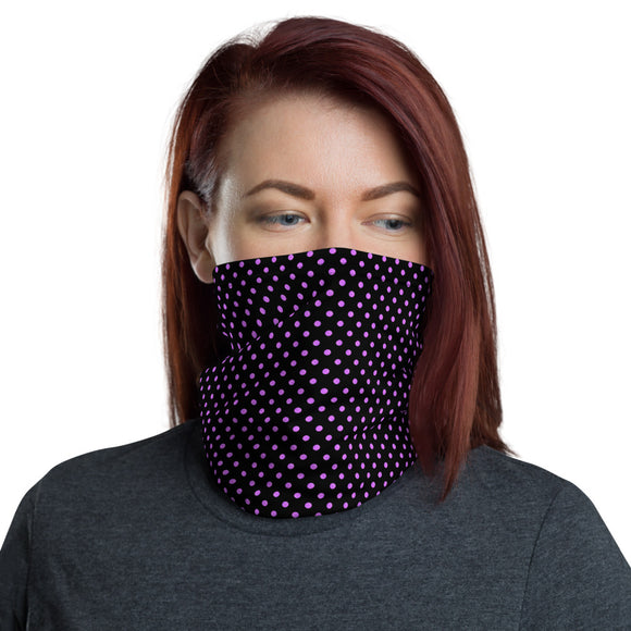 Purple Polka Dots Neck Gaiter