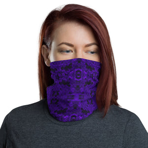 Purple Grunge Pattern Neck Gaiter