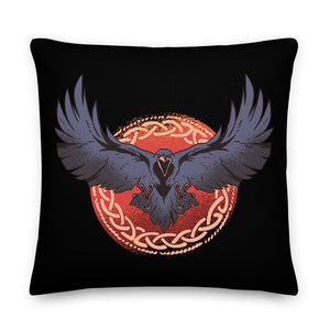Raven Throw Pillow Case + Optional Pillow