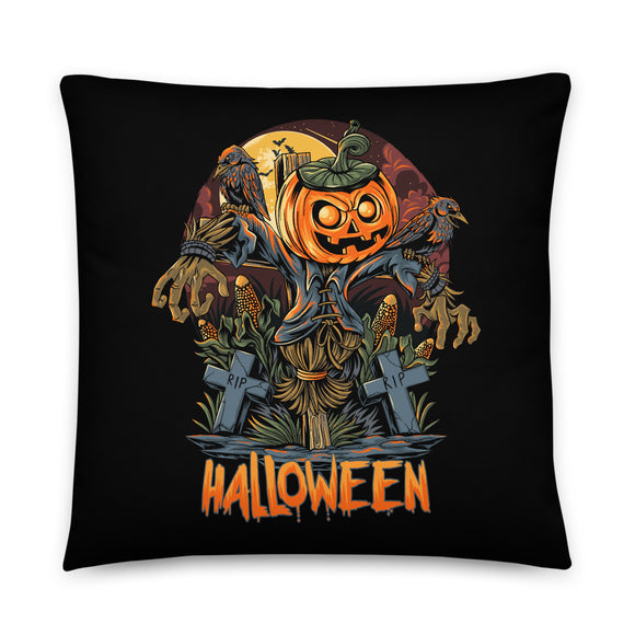 Scarecrow Jack Halloween Throw Pillow Case + Optional Pillow