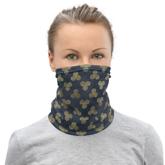 Triple Spiral Pattern Neck Gaiter