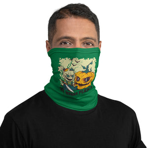 Wanna Play? Creepy Halloween Neck Gaiter