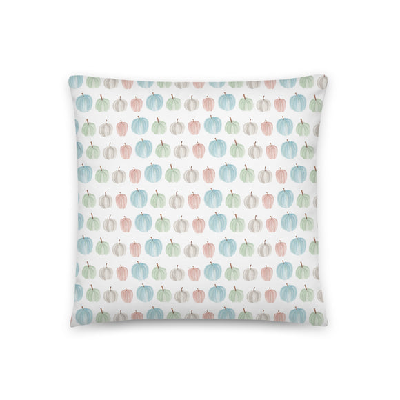 Pumpkin Watercolor Pattern Throw Pillow Case + Optional Pillow