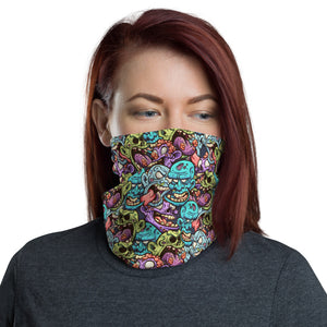 Zombie Heads Pattern Neck Gaiter