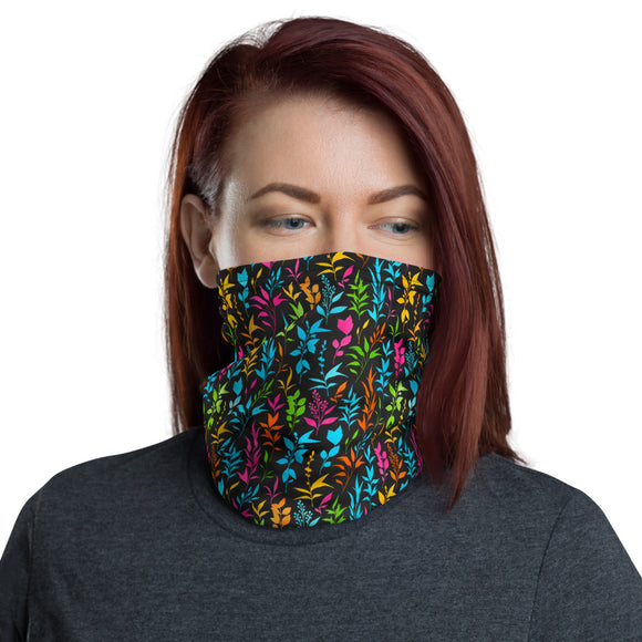 Colorful Floral Pattern Neck Gaiter