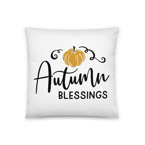 Autumn Blessings Throw Pillow Case + Optional Pillow