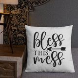 Bless This Mess Throw Pillow Case + Optional Pillow