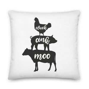 Farm Animals Pillow Case + Optional Pillow